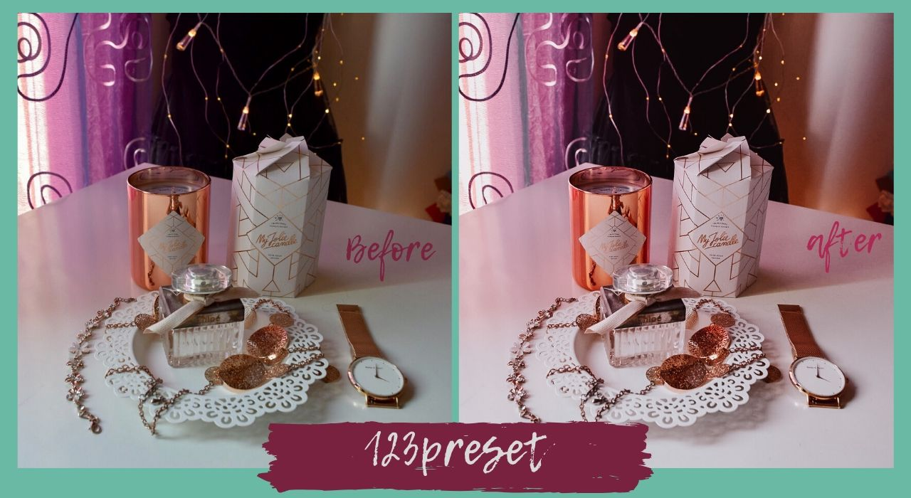 preset lightroom before after