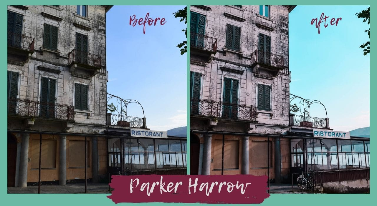 comprare i preset per Lightroom - Parker Harrow